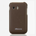 Nillkin Super Matte Hard Cases Skin Covers for Samsung S5360 Galaxy Y I509 - Brown (High transparent screen protector)