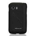 Nillkin Super Matte Hard Cases Skin Covers for Samsung S5368 - Black (High transparent screen protector)