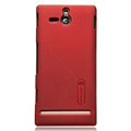 Nillkin Super Matte Hard Cases Skin Covers for Sony Ericsson ST25i Xperia U - Red (High transparent screen protector)