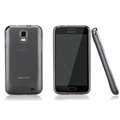Nillkin Super Matte Rainbow Cases Skin Covers for Samsung E110S Galaxy SII LTE - Gray (High transparent screen protector)
