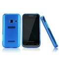 Nillkin Super Matte Rainbow Cases Skin Covers for Samsung S5820 - Blue (High transparent screen protector)