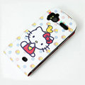 Hello Kitty Chicken Leather case For HTC Z715e Sensation XE G18 - White