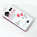 Hello Kitty Face Leather case For HTC Pyramid Sensation 4G G14 Z710e - White