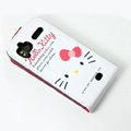 Hello Kitty Face Leather case For HTC Z715e Sensation XE G18 - White