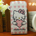 Hello Kitty Heart Lover Leather case For HTC Incredible S S710E G11 - Pink