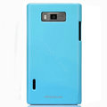 Nillkin Colorful Hard Cases Skin Covers for LG P705 Optimus L7 - Blue (High transparent screen protector)