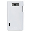 Nillkin Colorful Hard Cases Skin Covers for LG P705 Optimus L7 - White (High transparent screen protector)