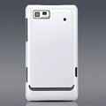 Nillkin Colorful Hard Cases Skin Covers for Motorola XT615 - White (High transparent screen protector)