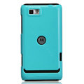 Nillkin Colorful Hard Cases Skin Covers for Motorola XT681 - Blue (High transparent screen protector)