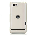Nillkin Colorful Hard Cases Skin Covers for Motorola XT681 - White (High transparent screen protector)