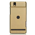 Nillkin Colorful Hard Cases Skin Covers for Motorola XT928 - Golden (High transparent screen protector)