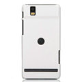 Nillkin Colorful Hard Cases Skin Covers for Motorola XT928 - White (High transparent screen protector)
