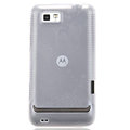 Nillkin Flower Super Matte Rainbow Cases Skin Covers for Motorola XT681 - White (High transparent screen protector)