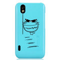 Nillkin Mood Hard Cases Skin Covers for LG P970 - Blue (High transparent screen protector)