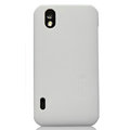 Nillkin Super Matte Hard Cases Skin Covers for LG P970 - White (High transparent screen protector)