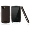 Nillkin Super Matte Hard Cases Skin Covers for Motorola MT870 - Brown (High transparent screen protector)