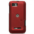 Nillkin Super Matte Hard Cases Skin Covers for Motorola XT535 - Red (High transparent screen protector)