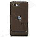 Nillkin Super Matte Hard Cases Skin Covers for Motorola XT681 - Brown (High transparent screen protector)