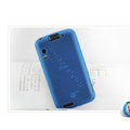 Nillkin Super Matte Rainbow Cases Skin Covers for Motorola Atrix 4G MB860 - Blue (High transparent screen protector)