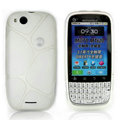 Nillkin Super Matte Rainbow Cases Skin Covers for Motorola MT620 - White (High transparent screen protector)