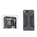 Nillkin Transparent Rainbow Soft Cases Covers for Motorola MB810 Droid X - Black (High transparent screen protector)