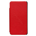 Nillkin leather Cases Holster Covers for Motorola XT928 - Red (High transparent screen protector)