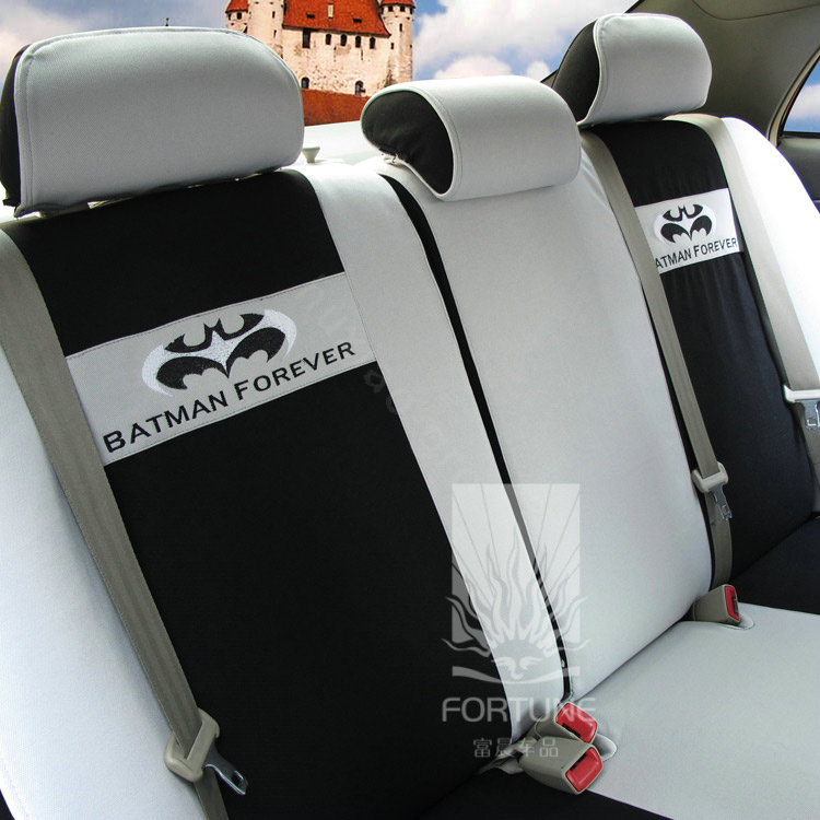 buy wholesale fortune batman forever autos car seat covers for 2012 honda fit gray from. Black Bedroom Furniture Sets. Home Design Ideas