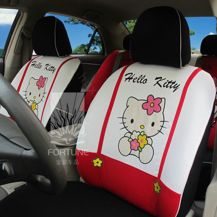 buy wholesale fortune hello kitty autos car seat covers for 2012 honda fit white from chinese. Black Bedroom Furniture Sets. Home Design Ideas