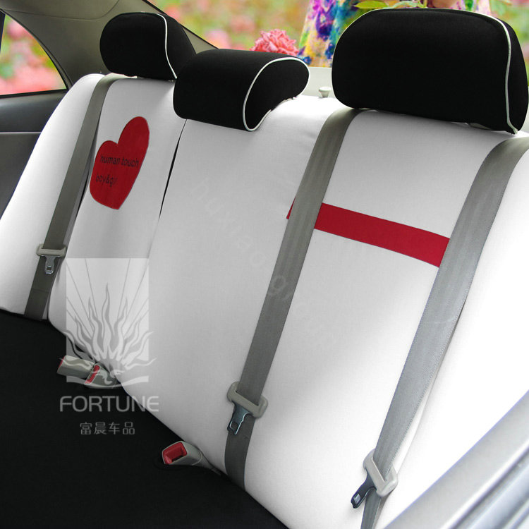 buy wholesale fortune human touch heart bike autos car seat covers for 2010 honda fit white. Black Bedroom Furniture Sets. Home Design Ideas