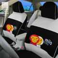 FORTUNE Baby Milo Bape Autos Car Seat Covers for 2012 Honda City 1.8AT Luxury - Gray