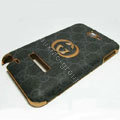 GUCCI Kingpad Luxury leather Cases cover Holster for Samsung Galaxy Note i9220 N7000 - Black