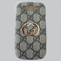 GUCCI cover leather cases Holster Skin for Samsung Galaxy SIII S3 I9300 I9308 I939 I535 - Blue