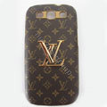 LV Louis Vuitton cover leather cases Holster Skin for Samsung Galaxy SIII S3 I9300 I9308 I939 I535 - Brown
