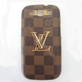 LV Louis Vuitton cover leather cases Holster Skin for Samsung Galaxy SIII S3 I9300 I9308 I939 I535 - Yellow