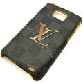 LV Louis Vuitton cover leather cases Holster Skin for Samsung i9100 i9108 i9188 Galasy S2 SII - Blue