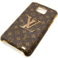 LV Louis Vuitton cover leather cases Holster Skin for Samsung i9100 i9108 i9188 Galasy S2 SII - Yellow
