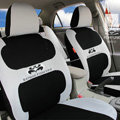 FORTUNE Batman Forever Autos Car Seat Covers for 2012 Toyota 3 Door Yaris L/LE - Gray