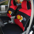 FORTUNE Baby Milo Bape Autos Car Seat Covers for 2007 Toyota Yaris 4-Door Sedan - Red