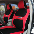 FORTUNE Batman Forever Autos Car Seat Covers for 2007 Toyota Yaris 4-Door Sedan - Red