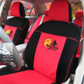 FORTUNE Brcko distrikt Autos Car Seat Covers for 2007 Toyota Yaris 4-Door Sedan - Red