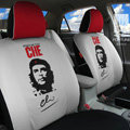 FORTUNE CHE Benicio Del Toro Autos Car Seat Covers for 2008 Toyota Yaris 4-Door Sedan - Gray