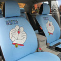 FORTUNE Doraemon Autos Car Seat Covers for 2010 Toyota Highlander 5 Seats - Blue