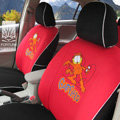 FORTUNE Garfield Autos Car Seat Covers for 2009 Toyota Highlander 7 Seats - Red