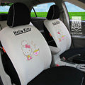 FORTUNE Hello Kitty Autos Car Seat Covers for 2007 Toyota Yaris 4-Door Sedan - Apricot