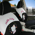 FORTUNE Hello Kitty Autos Car Seat Covers for 2010 Toyota Highlander 7 Seats - Black