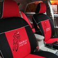 FORTUNE Palm Beach Cycle Club Autos Car Seat Covers for 2007 Toyota Yaris 4-Door Sedan - Red