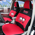 FORTUNE Pucca Funny Love Autos Car Seat Covers for 2009 Toyota Highlander 7 Seats - Red