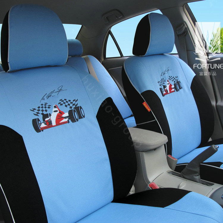 buy wholesale fortune racing car autos car seat covers for 2007 toyota highlander 7 seats blue. Black Bedroom Furniture Sets. Home Design Ideas