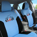 FORTUNE Racing Car Autos Car Seat Covers for 2009 Toyota Highlander 7 Seats - Blue