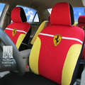 FORTUNE SF Scuderia Ferrari Autos Car Seat Covers for 2007 Toyota Highlander 7 Seats - Red